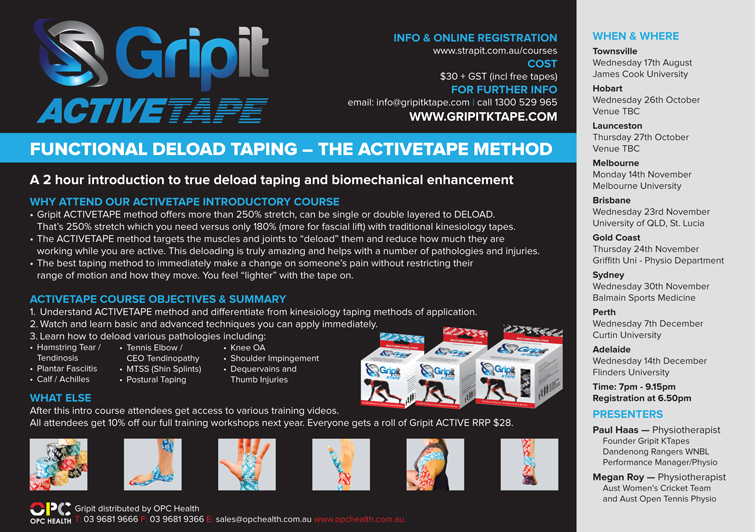 Gripit 2016 Functional Deload Taping Course