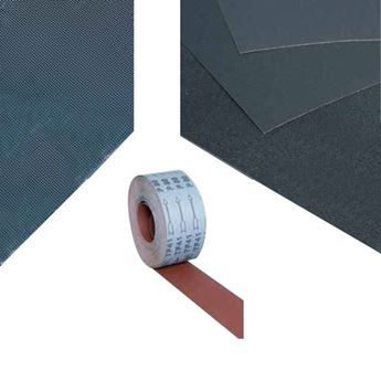 ABRASIVE SHEETS AND ROLLS
