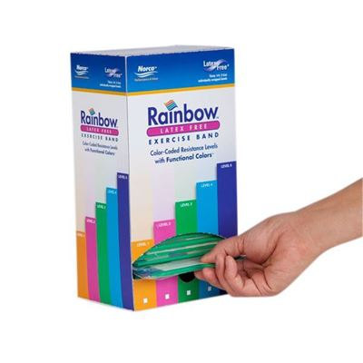 Picture of RAINBOW LATEX FREE BAND PRECUT
