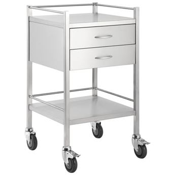 Picture of SINGLE STAINLESS STEEL TROLLEY