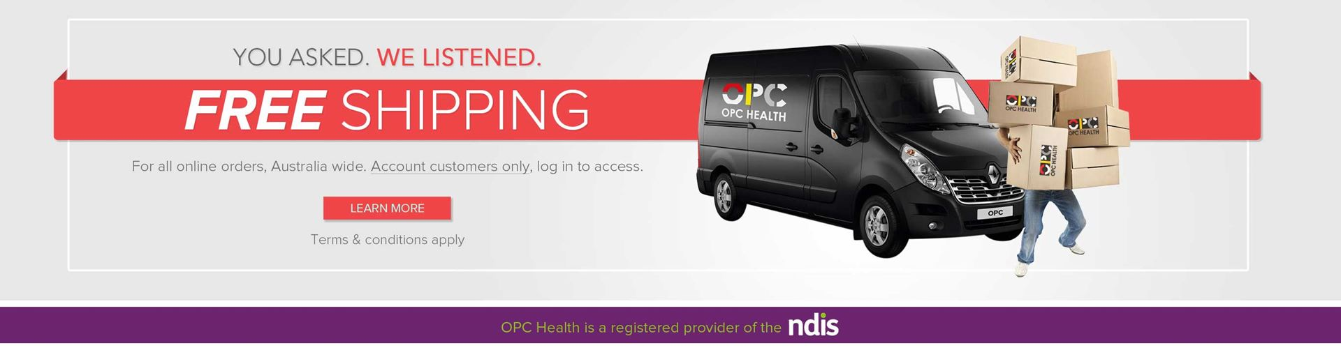 Free Shipping with OPC Health